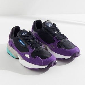 NEW adidas falcon purple chunky sneaker shoes 8